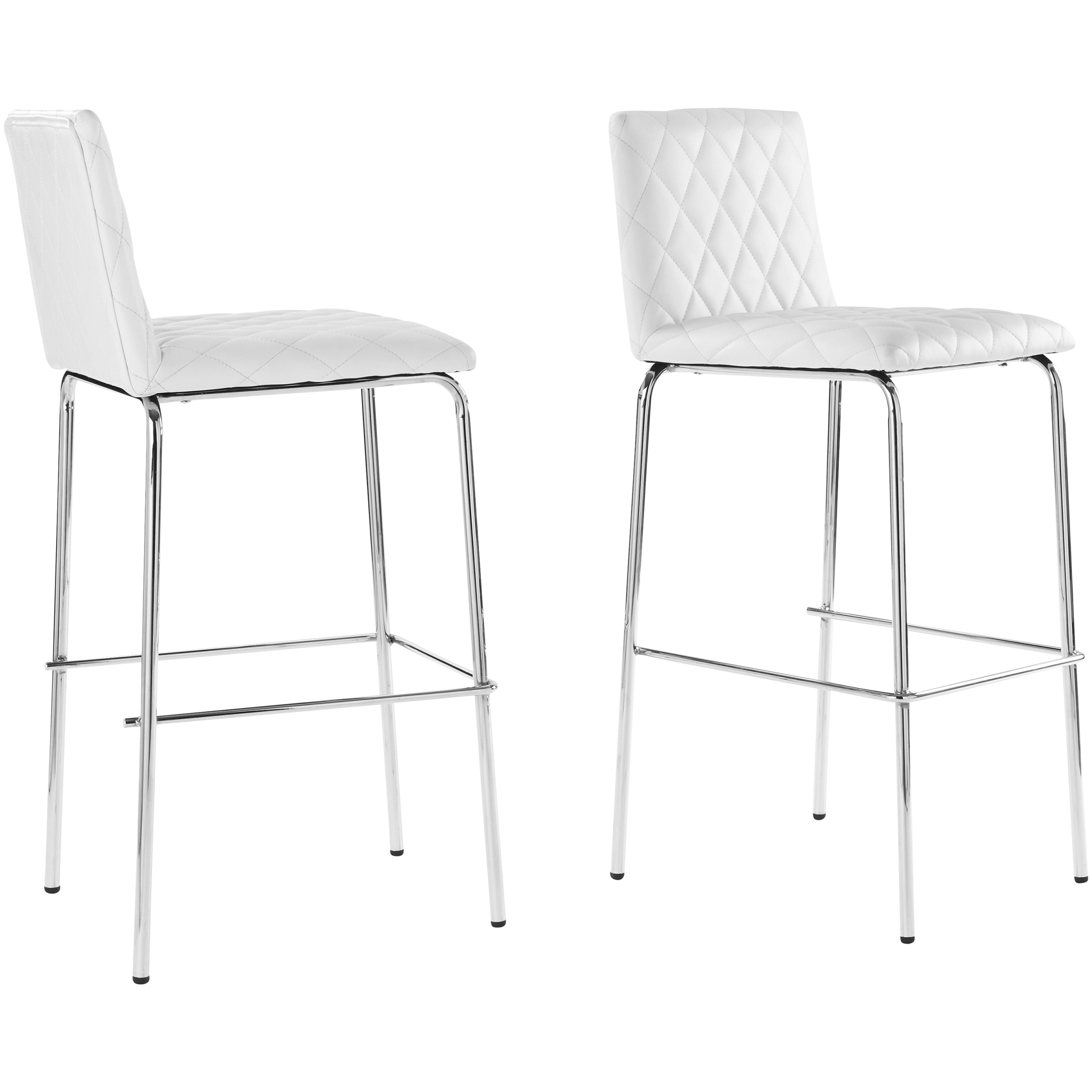 Better Homes & Gardens Etta 20.28 in  Quilted Bar Stools, Se