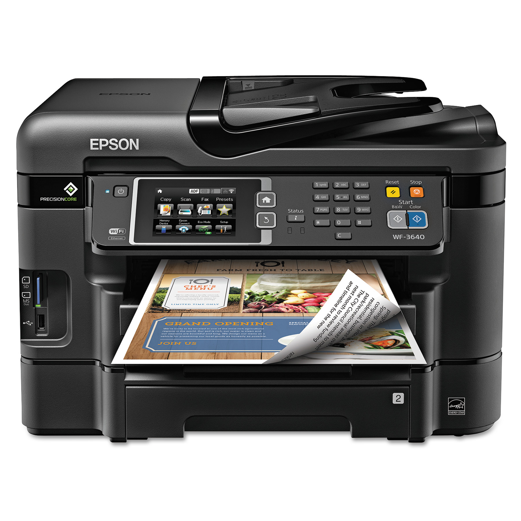 Epson-C11CD16201-WorkForce-WF-3640-All-in-One-Printer-Copier-Scanner-Fax-Machine thumbnail 2