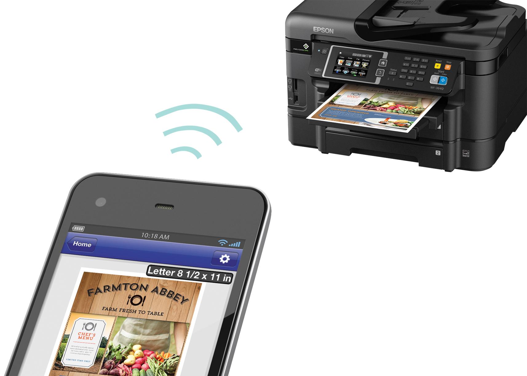 Epson-C11CD16201-WorkForce-WF-3640-All-in-One-Printer-Copier-Scanner-Fax-Machine thumbnail 4