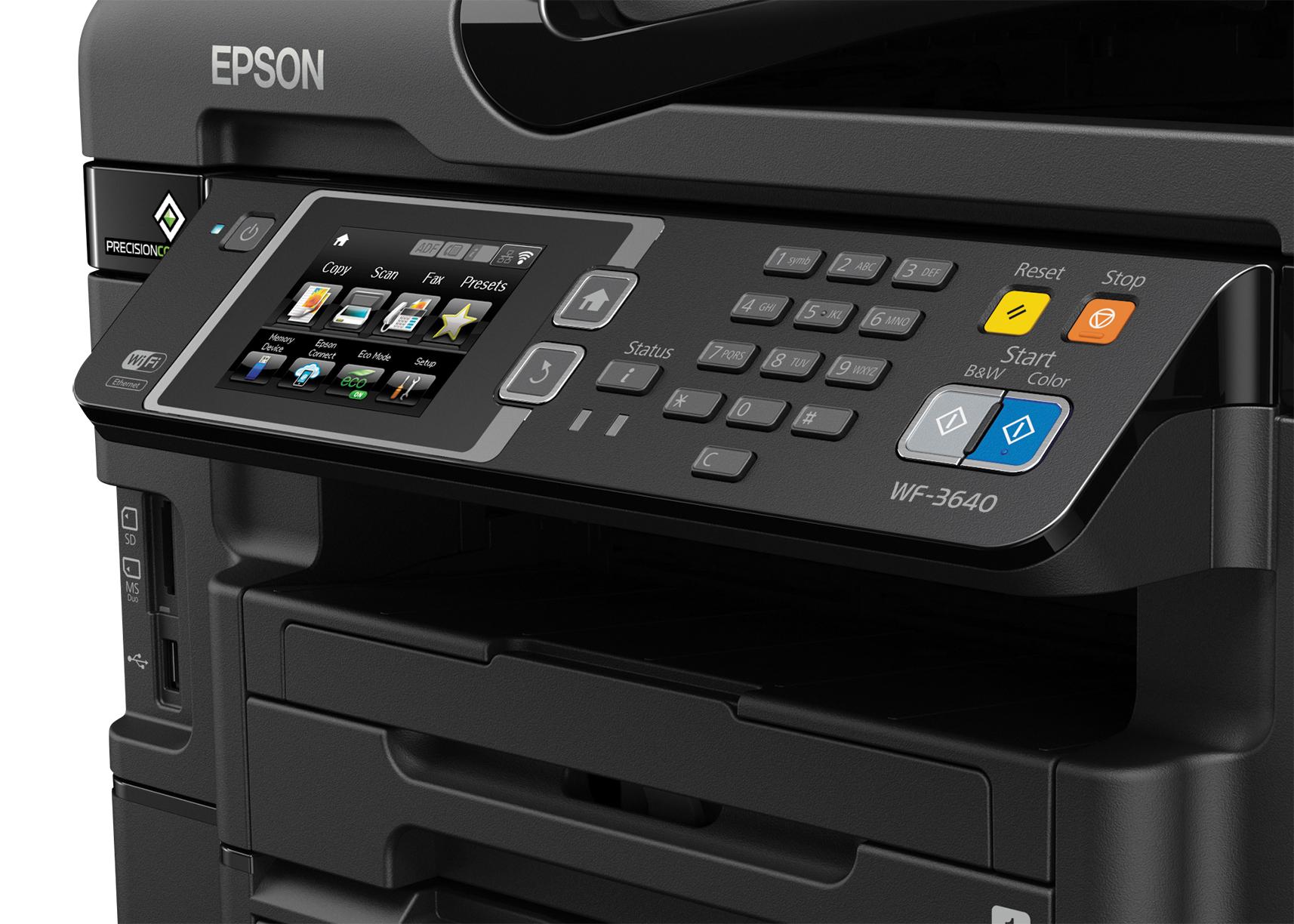 Epson-C11CD16201-WorkForce-WF-3640-All-in-One-Printer-Copier-Scanner-Fax-Machine thumbnail 3
