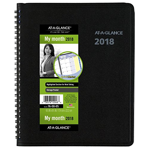 at a glance quicknotes monthly planner 6 7 8 x 8 3 4 black 2018 ebay