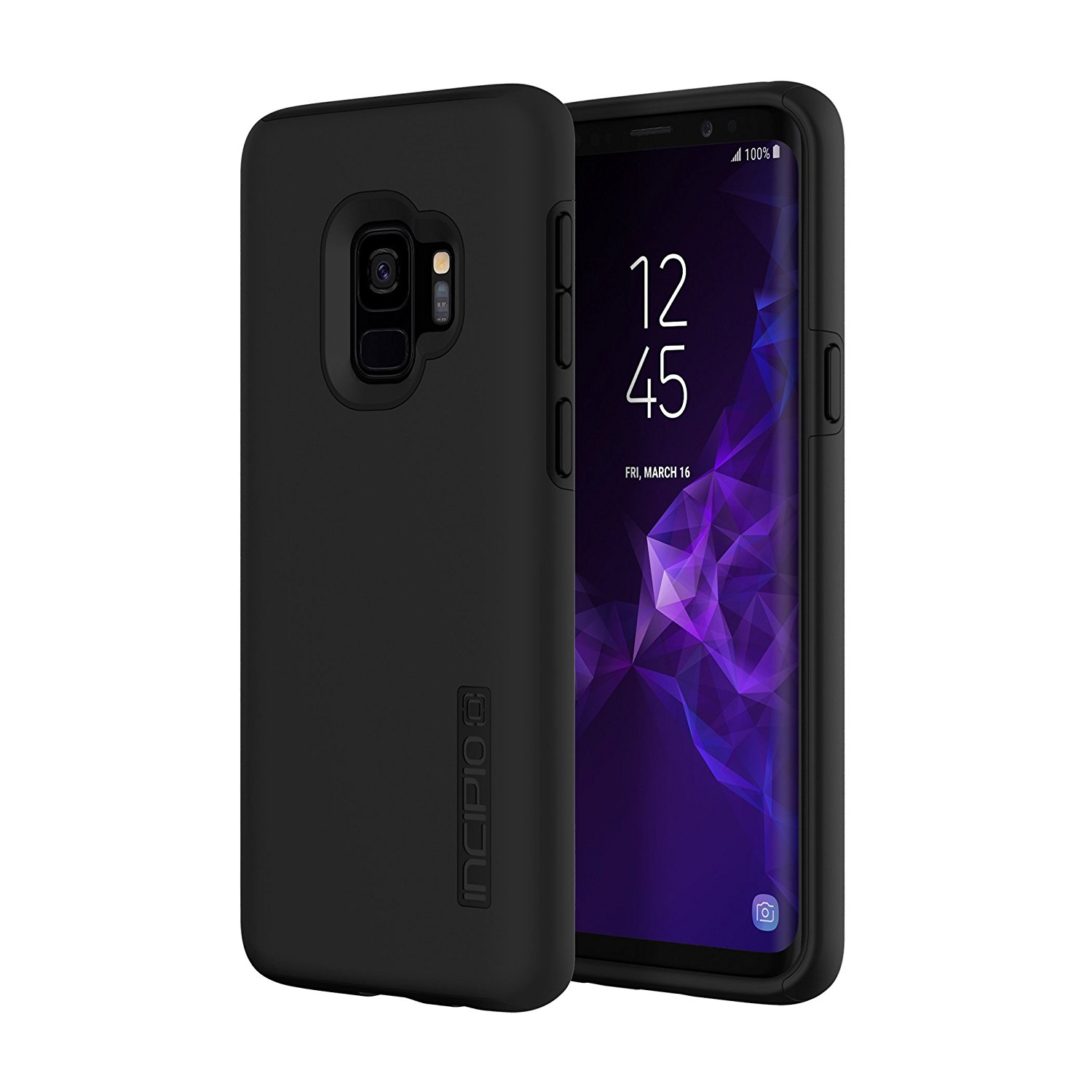 finest selection 42b0b 7e43b Details about Incipio SA-921-BLK DualPro Samsung Galaxy S9 Case, Black